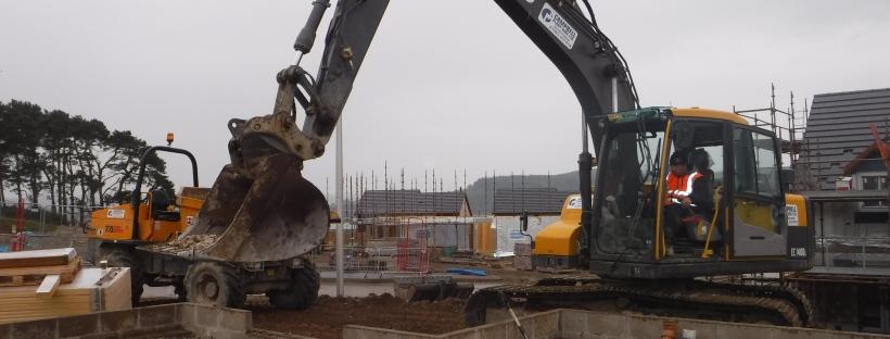 Digger on Housing Development Inverness